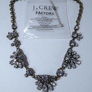 J.Crew Crystal Baguette Short Necklace